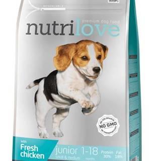 NUTRILOVE pes JUNIOR small/medium - 1,6kg