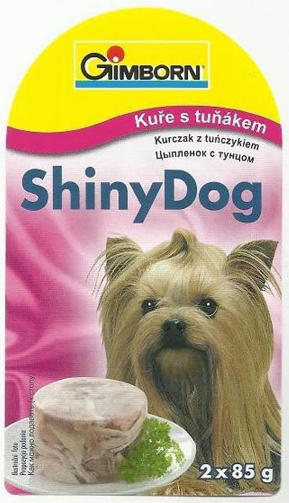 (bez zařazení) GIMBORN SHINY dog konz. TUNIAK / kurča - 2x85g