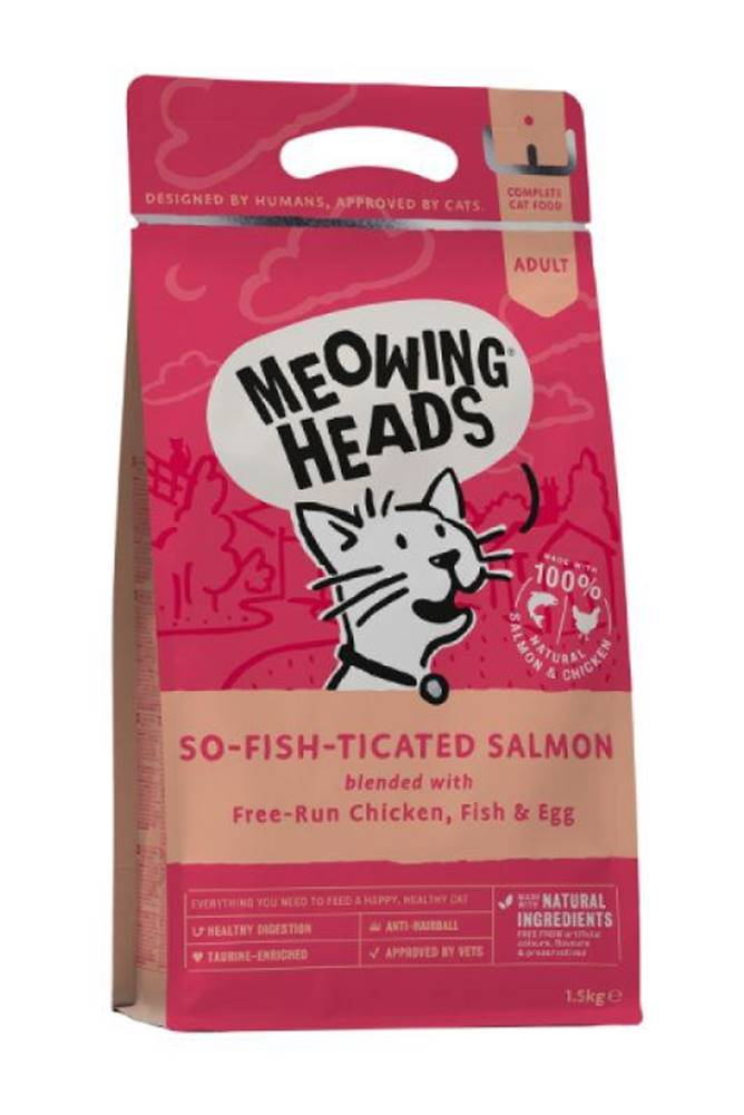 Meowing Meowing Heads  SO-FISH-ticated salmon - 450g