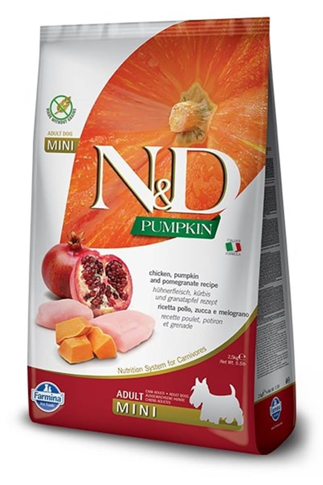 Natural&Delicious N&D dog GF PUMPKIN ADULT MINI chicken/pomegranate - 800g