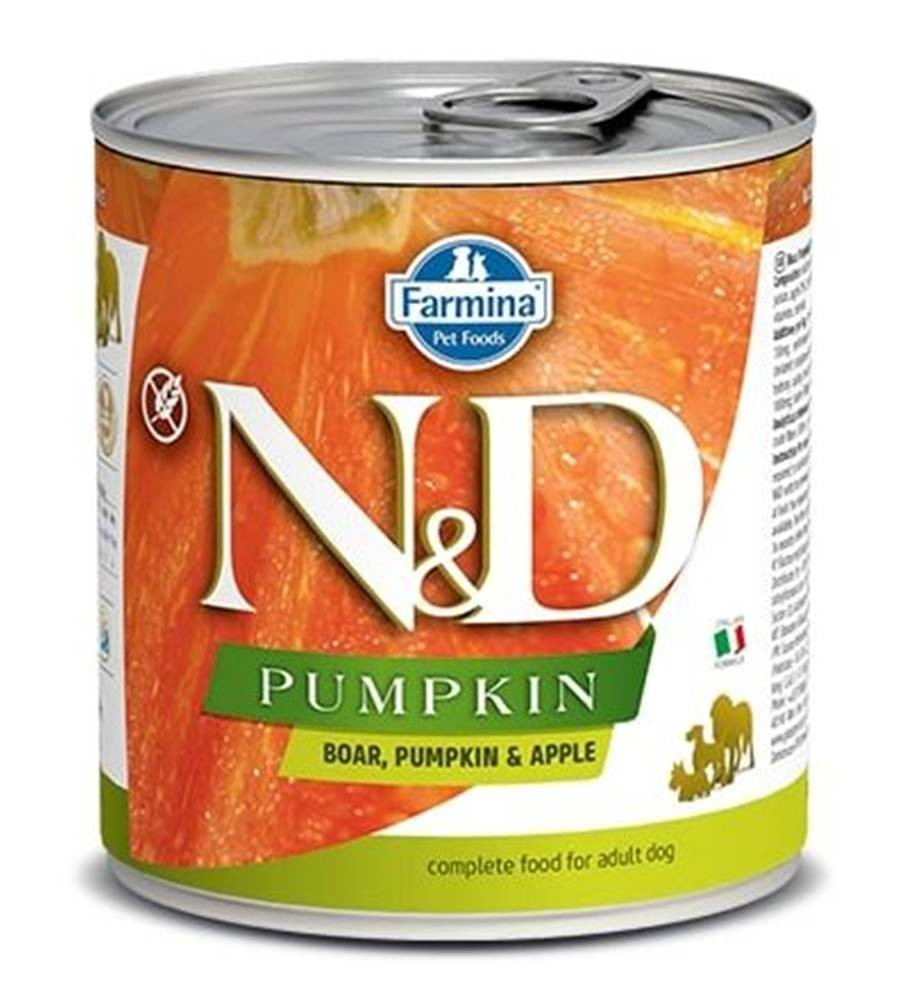 Natural&Delicious N&D dog GF PUMPKIN konz. ADULT boar/apple - 285g