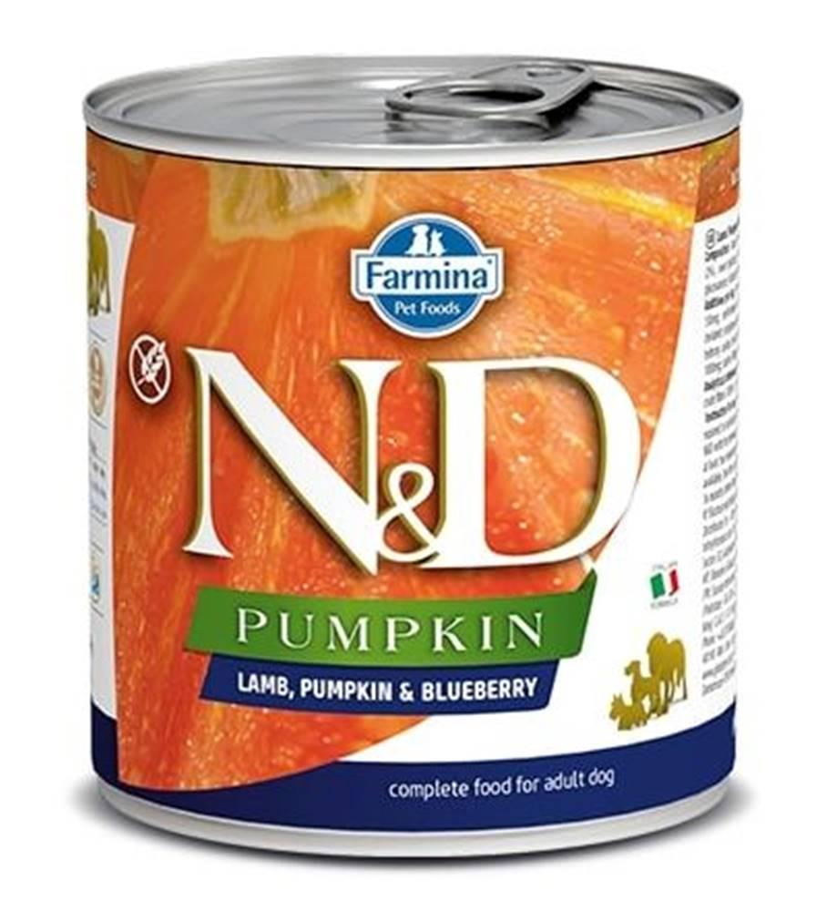 Natural&Delicious N&D dog GF PUMPKIN konz. ADULT lamb/blueberry - 285g