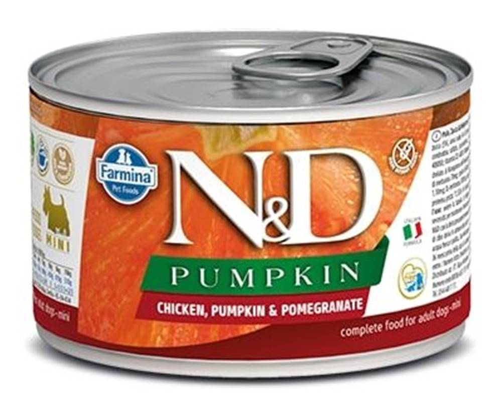 Natural&Delicious N&D dog GF PUMPKIN konz. ADULT MINI chicken/pomegranate - 140g