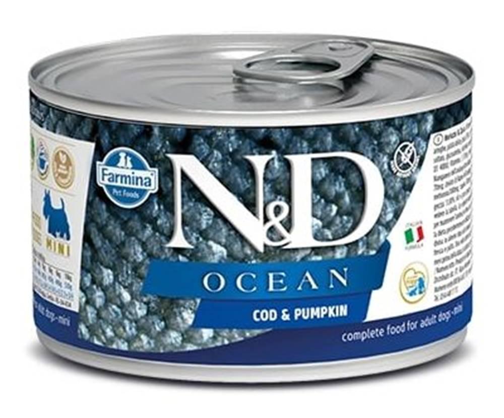 Natural&Delicious N&D dog OCEAN konz. ADULT MINI codfish/pumpkin - 140g