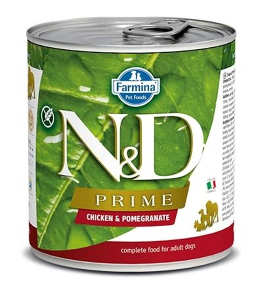 Natural&Delicious N&D dog PRIME konz. ADULT chicken/pomegranate - 285g