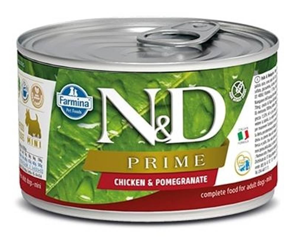 Natural&Delicious N&D dog PRIME konz. ADULT MINI chicken/pomegranate - 140g