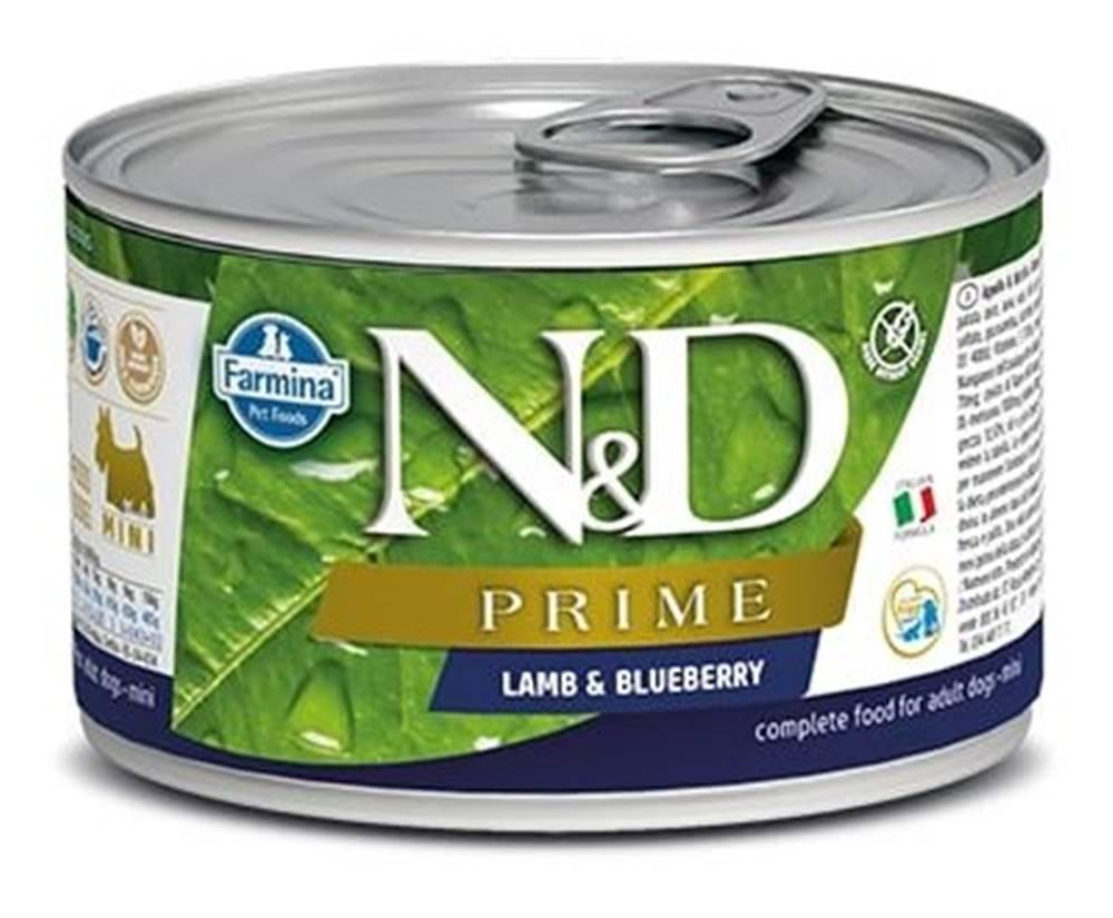 Natural&Delicious N&D dog PRIME konz. ADULT MINI lamb/blueberry - 140g