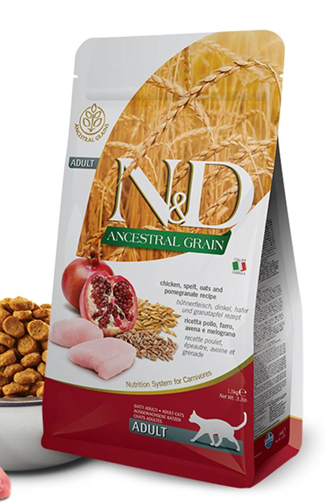 Natural&Delicious N&D LG cat ADULT CHICKEN / POMEGRANATE - 300g