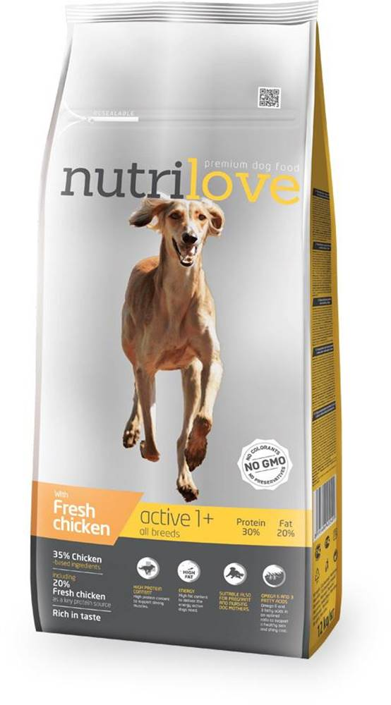 Nutrilove NUTRILOVE pes ACTIVE - 3kg