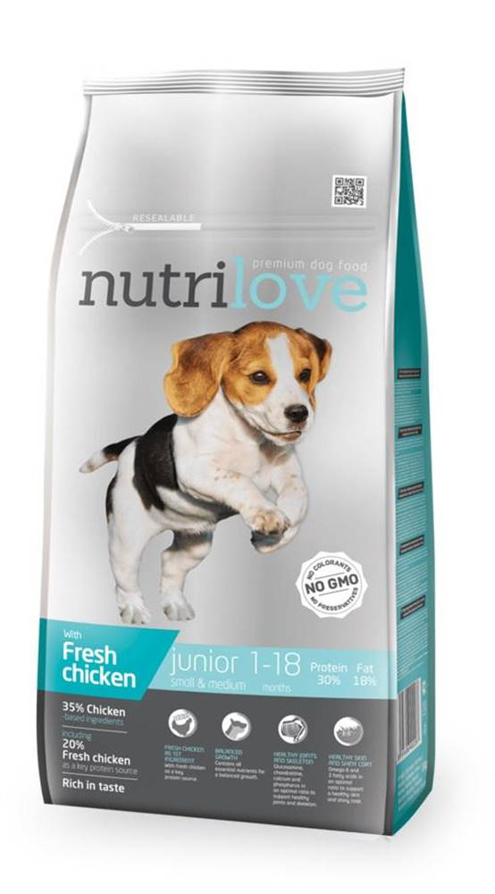 Nutrilove NUTRILOVE pes JUNIOR small/medium - 1,6kg