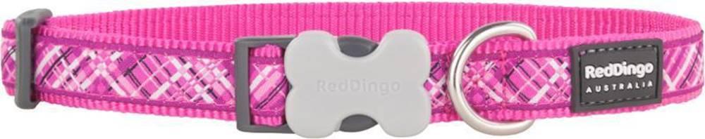 Red-dingo Obojek RD FLANNO hot pink - 1,2/20-32cm