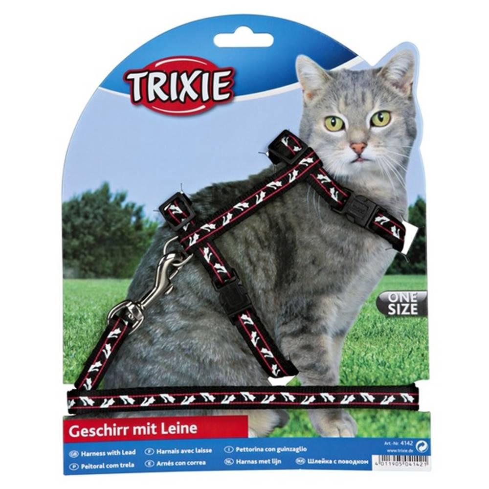 Trixie Postroj (trixie) pre mačku MOTÍV  - 1cm/27-46cm