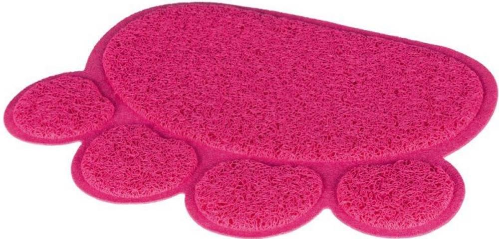 Trixie Predložka labka PVC k WC (trixie) - 40x30cm/růžová