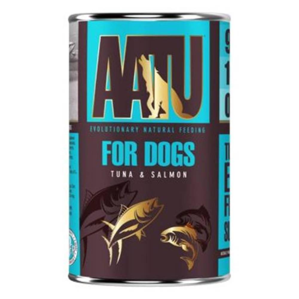 (bez zařazení) AATU dog konz. TUNA/SALMON - 400g