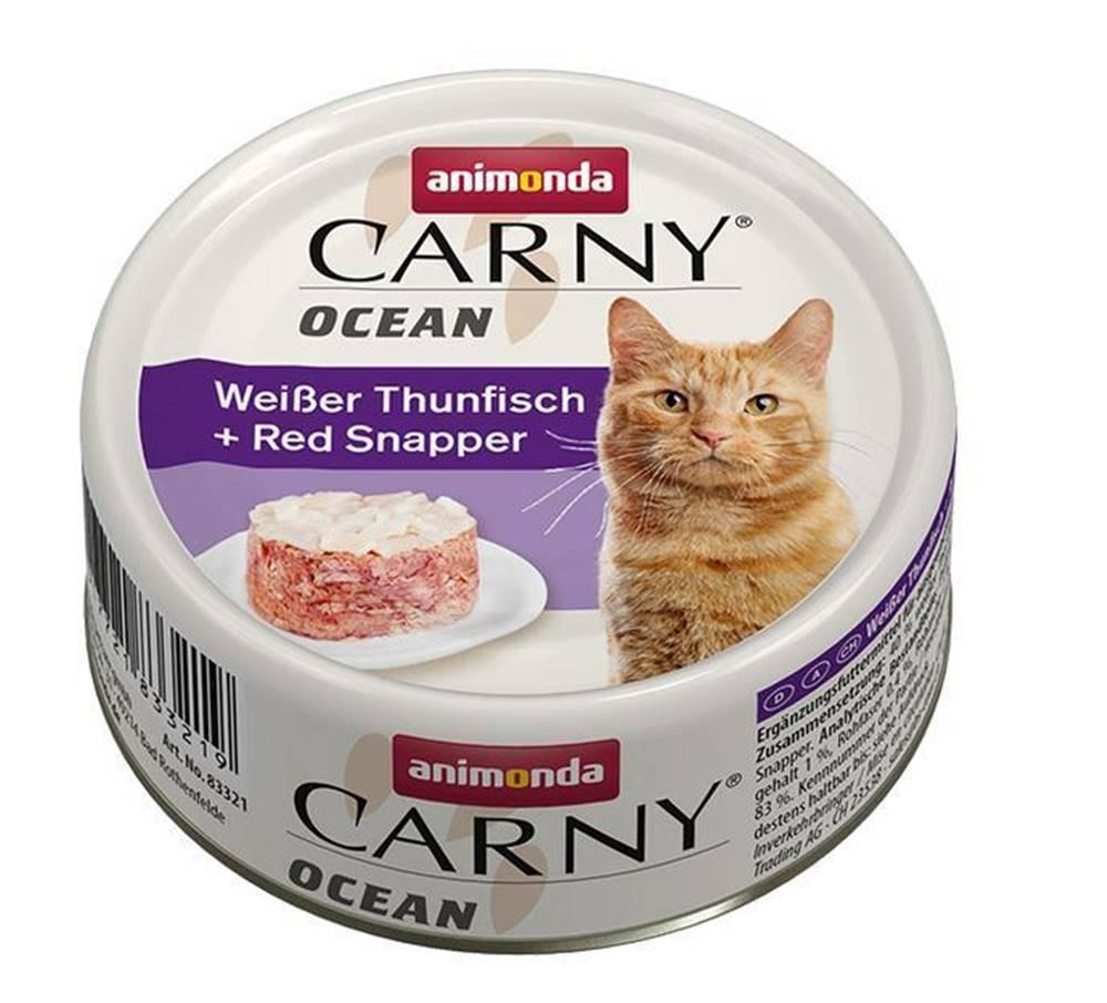 Animonda ANIMONDA cat konzerva CARNY OCEAN biely tuniak / Kanica červený - 80g