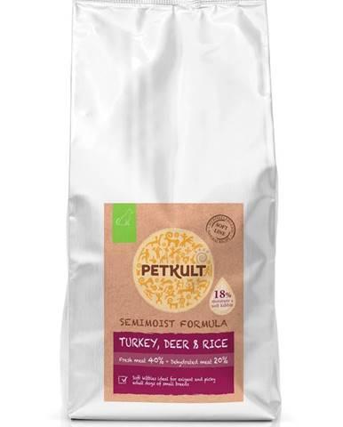 PETKULT dog SEMIMOIST/MINI ADULT turkey - 1,5kg