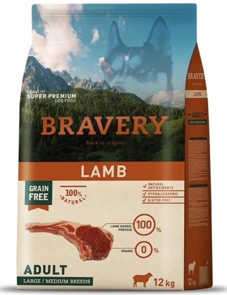 Bravery BRAVERY dog ADULT large/medium LAMB - 4kg