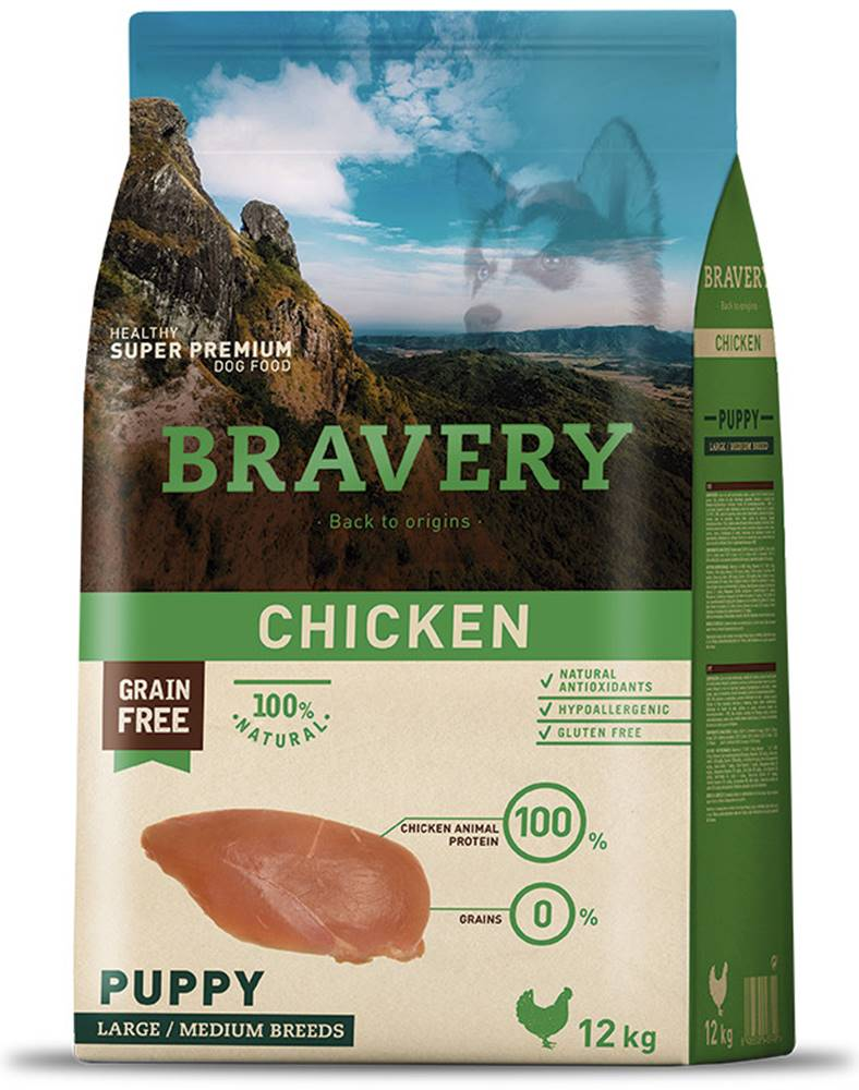 Bravery BRAVERY dog PUPPY large/medium CHICKEN - 400g