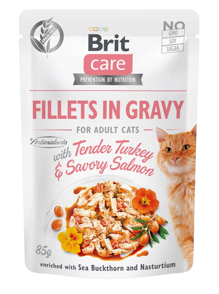 Brit Care BRIT CARE cat kapsa  ADULT  TENDER turkey/salmon - 85g
