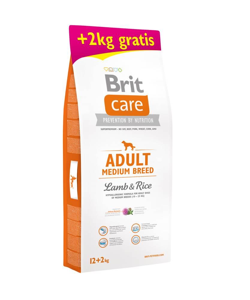 Brit Care Brit Care dog Adult Medium Breed Lamb & Rice - 1kg