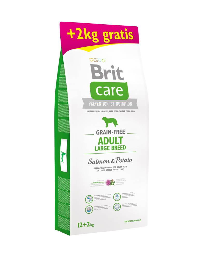Brit Care Brit Care dog Grain Free Adult Large Breed Salmon & Potato - 1kg