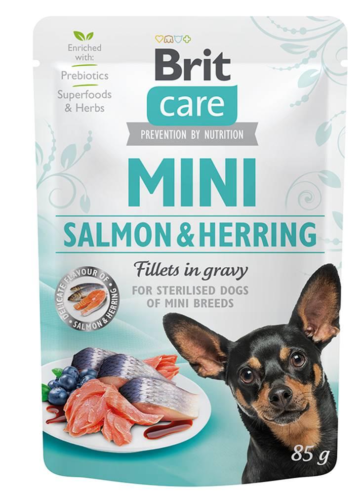 Brit Care BRIT CARE dog  MINI kapsa  STERILISED  salmon/herring - 85g