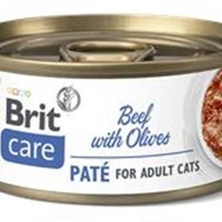 BRIT CARE cat konz. ADULT  BEEF paté/olives - 70g