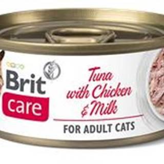 BRIT CARE cat konz. ADULT  TUNA/chicken/milk - 70g