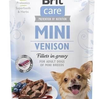 BRIT CARE dog  MINI kapsa ADULT  venison - 85g