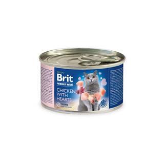 BRIT cat  premium  konz. CHICKEN/hearts - 200g