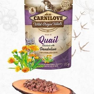 CARNILOVE cat  kapsa STERILISED  QUAIL/dandelion - 85g