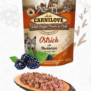 CARNILOVE dog  kapsa  PATÉ OSTRICH/blackberries - 300g