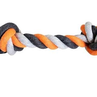 HRAČKA bavlnený uzol 41cm / 460g - Oranžový