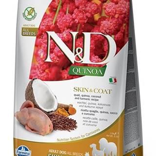 N&D dog GF QUINOA skin/coat QUAIL/COCONUT - 800g