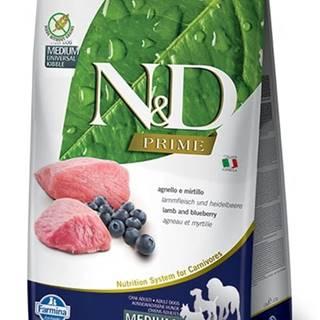 N&D dog PRIME ADULT MEDIUM/LARGE lamb/blueberry - 2,5kg