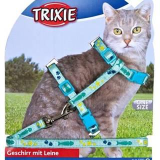 Postroj (trixie) s vodítkom na mačku pošitý stužkou - 22-36cm/10mm