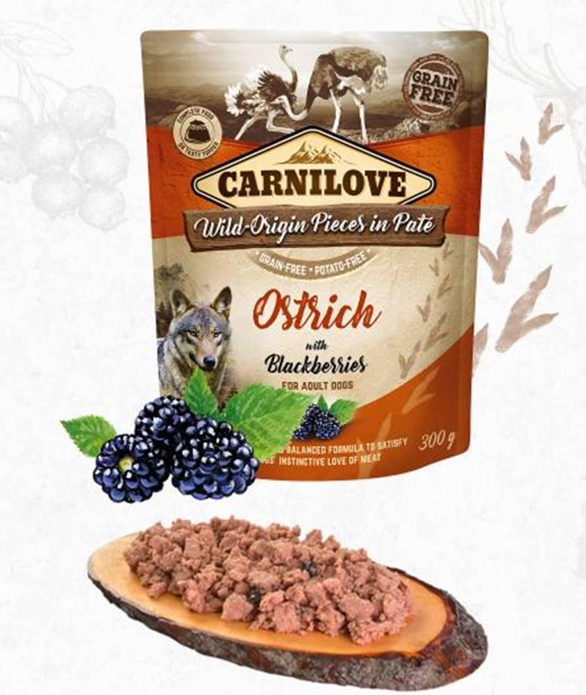 Carnilove CARNILOVE dog  kapsa  PATÉ OSTRICH/blackberries - 300g