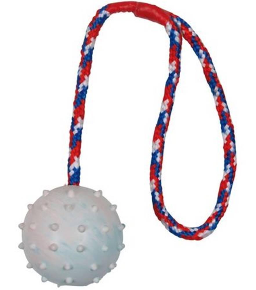 (bez zařazení) HRAČKA vrhacia hrboľ. lopta na šnúrke  6cm/30cm - 6cm/30cm