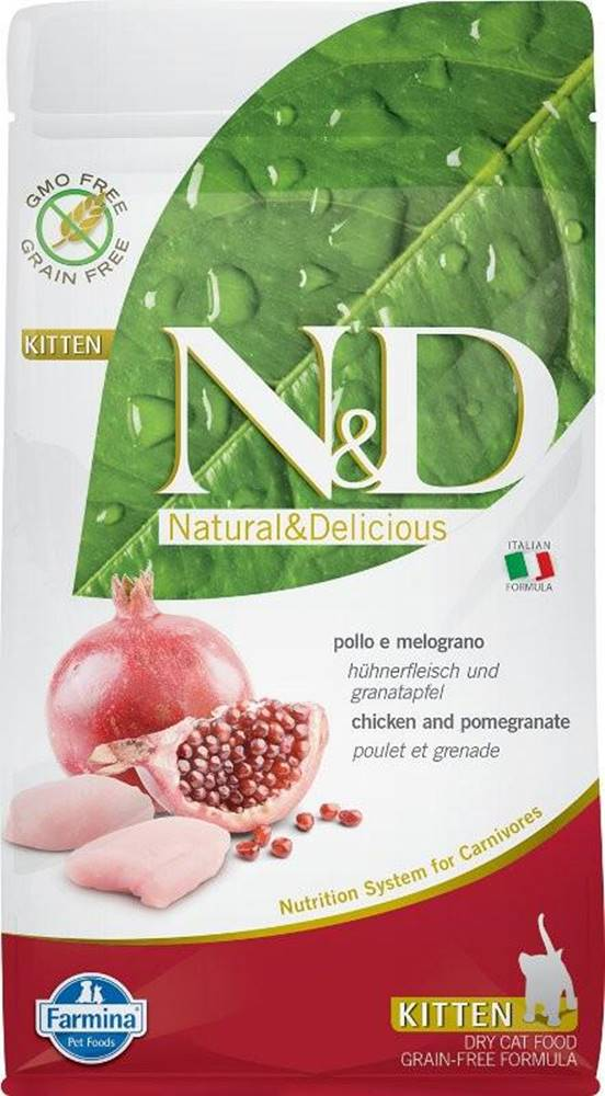 Natural&Delicious N&D cat GF KITTEN CHICKEN / POMEGRANATE - 300g