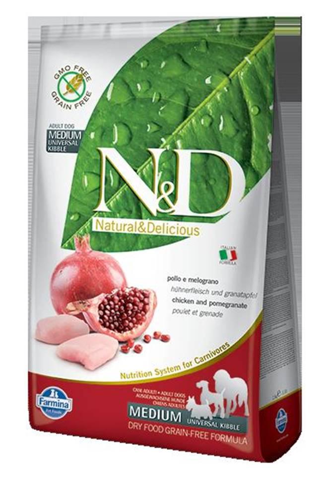 Natural&Delicious N&D dog GF ADULT MEDIUM CHICKEN/POMEGRANATE - 2,5kg