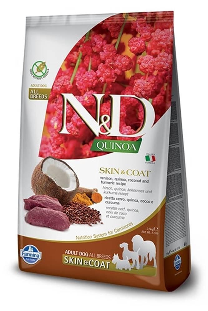 Natural&Delicious N&D dog GF QUINOA skin/coat VENISION/COCONUT - 800g