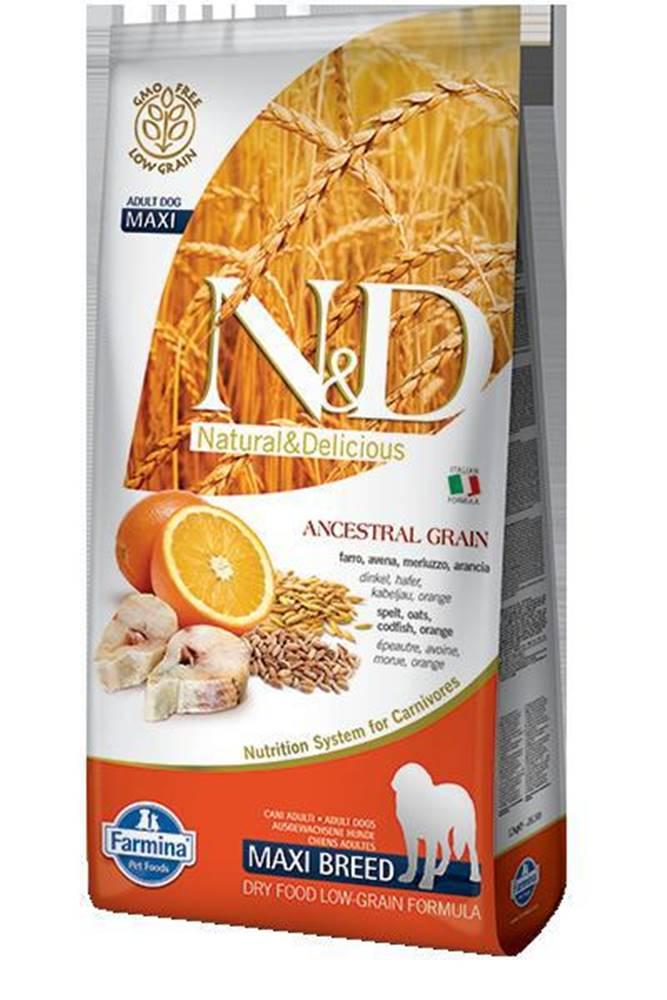 Natural&Delicious N&D dog LG ADULT MAXI CODFISH/ORANGE - 12kg