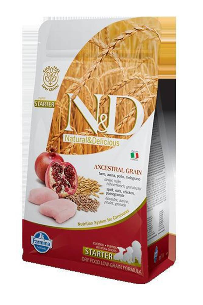 Natural&Delicious N&D dog LG PUPPY STARTER CHICKEN/POMEGRANATE - 800g