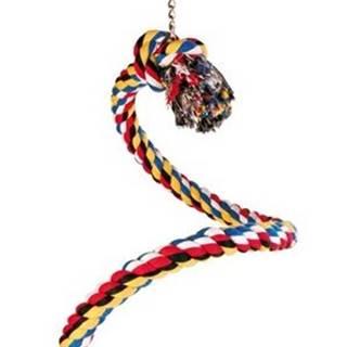 HRAČKA vták Hojdačka bavlnené lano špirála - 50cm