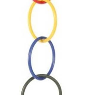 HRAČKA vtáky Olympijské kruhy so zvončekom - 25cm