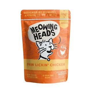 Meowing Heads   kapsa  PAW LICKIN´ chicken - 100g