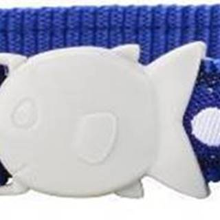Obojok RD  cat WHITE spots on NAVY - 12mm/20-32cm
