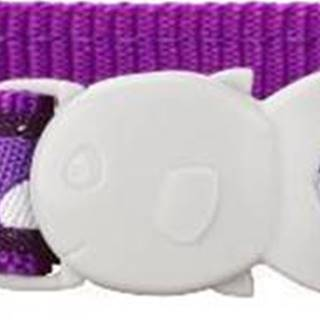 Obojok RD cat WHITE spots on PURPLE - 12mm/20-32cm
