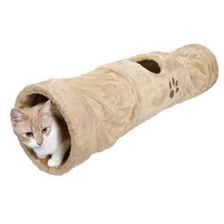 Trixie cat plyšový TUNEL béžový - 25x125cm