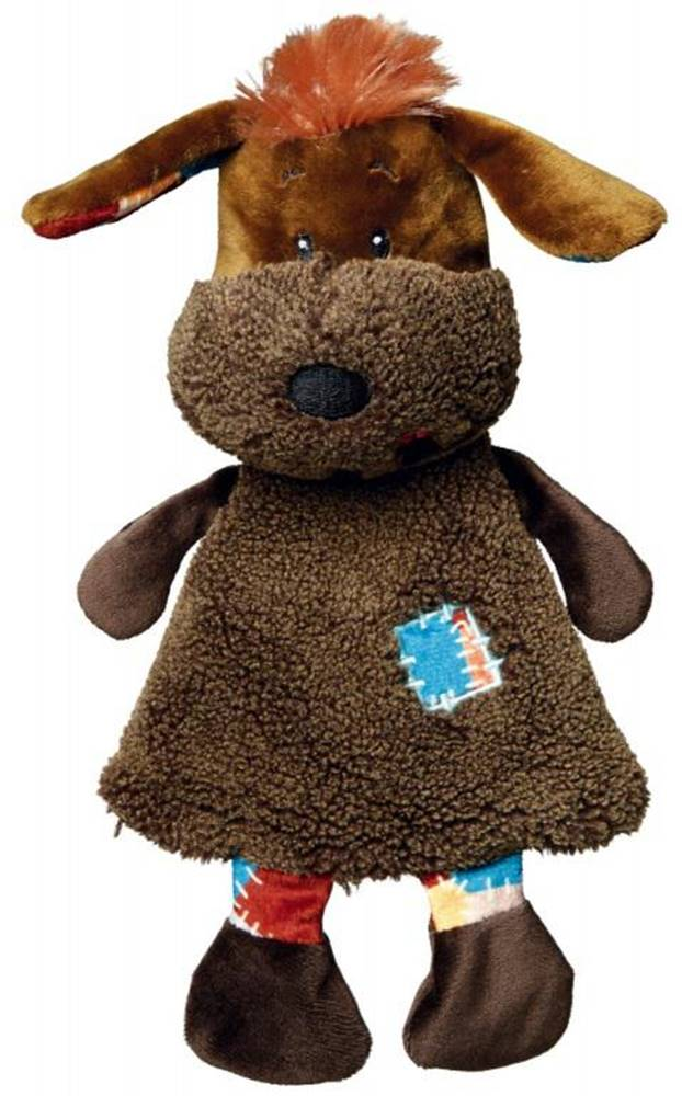 Trixie HRAČKA plyšový PES s chochol a záplatou na šatách - 28cm